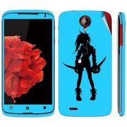 Snooky 39106 Digital Print Mobile Skin Sticker For Lenovo S820 - Blue