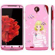 Snooky 39108 Digital Print Mobile Skin Sticker For Lenovo S820 - Pink