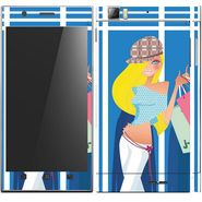 Snooky 39143 Digital Print Mobile Skin Sticker For Lenovo K900 - Blue