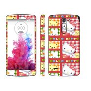 Snooky 39150 Digital Print Mobile Skin Sticker For LG G3 Stylus - Pink