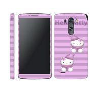 Snooky 39175 Digital Print Mobile Skin Sticker For LG G3 - Purple