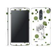 Snooky 39177 Digital Print Mobile Skin Sticker For LG G3 - White