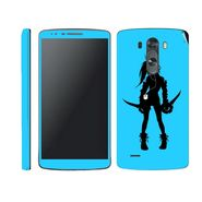 Snooky 39178 Digital Print Mobile Skin Sticker For LG G3 - Blue