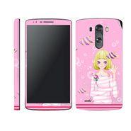 Snooky 39180 Digital Print Mobile Skin Sticker For LG G3 - Pink