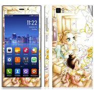 Snooky 39185 Digital Print Mobile Skin Sticker For Xiaomi Mi3 - White