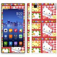 Snooky 39186 Digital Print Mobile Skin Sticker For Xiaomi Mi3 - Pink