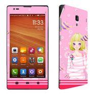 Snooky 39216 Digital Print Mobile Skin Sticker For Xiaomi Redmi 1s - Pink