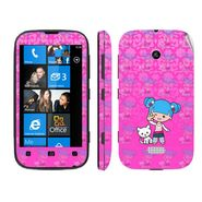 Snooky 39231 Digital Print Mobile Skin Sticker For Nokia Lumia 510 - Pink