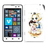 Snooky 39265 Digital Print Mobile Skin Sticker For Nokia Lumia 625 - White