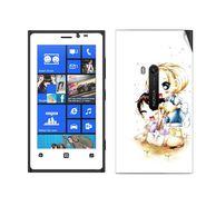 Snooky 39277 Digital Print Mobile Skin Sticker For Nokia Lumia 920 - White