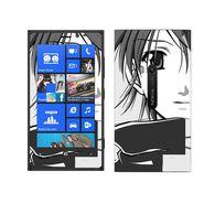 Snooky 39278 Digital Print Mobile Skin Sticker For Nokia Lumia 920 - Gray