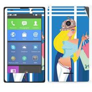 Snooky 39311 Digital Print Mobile Skin Sticker For Nokia XL - Blue