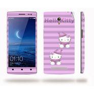 Snooky 39343 Digital Print Mobile Skin Sticker For OPPO Find 7 X9076 - Purple