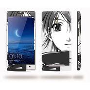 Snooky 39350 Digital Print Mobile Skin Sticker For OPPO Find 7 X9076 - Gray