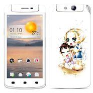 Snooky 39361 Digital Print Mobile Skin Sticker For OPPO N1 Mini - White