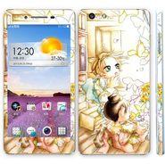 Snooky 39377 Digital Print Mobile Skin Sticker For OPPO R1 R829t  - White