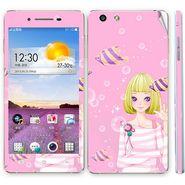 Snooky 39384 Digital Print Mobile Skin Sticker For OPPO R1 R829t  - Pink