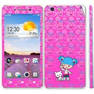 Snooky 39387 Digital Print Mobile Skin Sticker For OPPO R1 R829t  - Pink