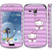 Snooky 39403 Digital Print Mobile Skin Sticker For Samsung Galaxy S Duos 7562 - Purple