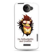 Snooky 37243 Digital Print Hard Back Case Cover For HTC ONE X S720E - White