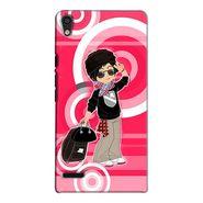 Snooky 38279 Digital Print Hard Back Case Cover For Huawei Ascend P6 - Rose Pink