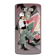 Snooky 37628 Digital Print Hard Back Case Cover For LG G3 - Brown