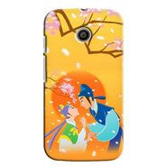 Snooky 35798 Digital Print Hard Back Case Cover For Motorola Moto E - Orange