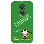 Snooky 35910 Digital Print Hard Back Case Cover For Motorola Moto X2 - Green