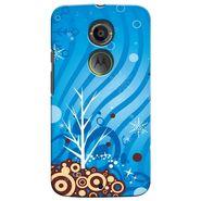 Snooky 35942 Digital Print Hard Back Case Cover For Motorola Moto X2 - Blue