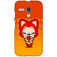 Snooky 38611 Digital Print Hard Back Case Cover For Motorola Moto G - Orange
