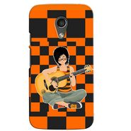Snooky 38627 Digital Print Hard Back Case Cover For Motorola Moto G 2nd Gen - Black