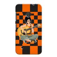 Snooky 37977 Digital Print Hard Back Case Cover For Nokia Lumia 530 - Black