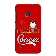 Snooky 37982 Digital Print Hard Back Case Cover For Nokia Lumia 530 - Red