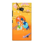Snooky 38068 Digital Print Hard Back Case Cover For Nokia Lumia 735 - Orange