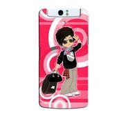 Snooky 36729 Digital Print Hard Back Case Cover For Oppo N1 - Rose Pink
