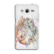 Snooky 35475 Digital Print Hard Back Case Cover For Samsung Galaxy Core 2 - Multicolour