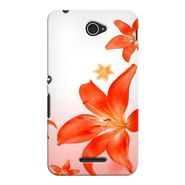 Snooky 37714 Digital Print Hard Back Case Cover For Sony Xperia E4 - White