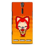 Snooky 37911 Digital Print Hard Back Case Cover For Sony Xperia S - Orange