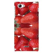Snooky 38709 Digital Print Hard Back Case Cover For Sony Xperia J - Red