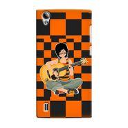 Snooky 37527 Digital Print Hard Back Case Cover For Vivo Y15 - Black