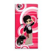 Snooky 37529 Digital Print Hard Back Case Cover For Vivo Y15 - Rose Pink