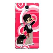 Snooky 36059 Digital Print Hard Back Case Cover For Xiaomi Redmi Note - Rose Pink