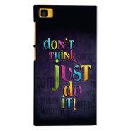 Snooky 38391 Digital Print Hard Back Case Cover For Xiaomi MI3 - Black