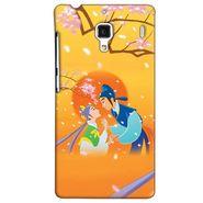 Snooky 38468 Digital Print Hard Back Case Cover For Xiaomi Redmi 1S - Orange