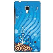 Snooky 38512 Digital Print Hard Back Case Cover For Xiaomi Redmi 1S - Blue