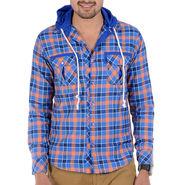 Bendiesel Checks Cotton Shirt_Bdc077a - Blue & Pink
