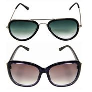 Combo of Aviator Sunglasses + Wayfarer Sunglasses_Combo55