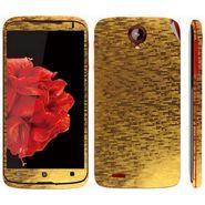 Snooky 18689 Mobile Skin Sticker For Lenovo S820 - Gold