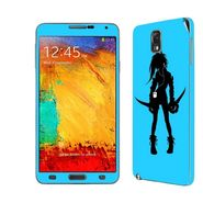 Snooky 39478 Digital Print Mobile Skin Sticker For Samsung Galaxy Note 3 N9000 - Blue