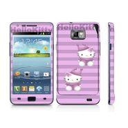 Snooky 39523 Digital Print Mobile Skin Sticker For Samsung Galaxy S2 I9100 - Purple